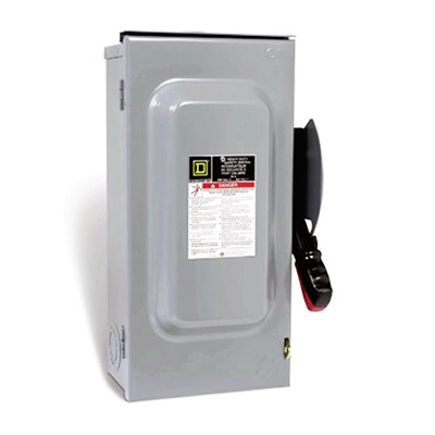 100 Amp Disconnect >> Square D Disconnect 100amp 600v Ac Dc Fusible 3p H363rb