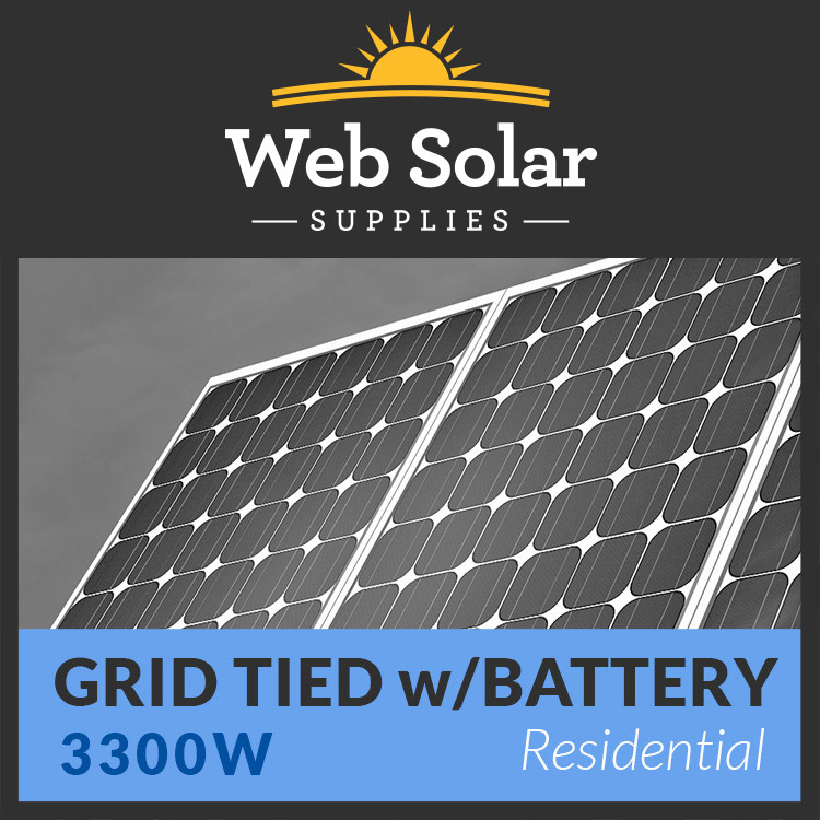 Residential 3300 Watt Grid Tied With Battery Backup
