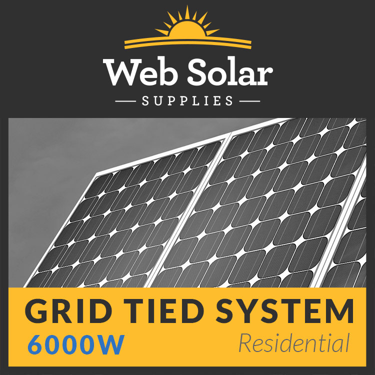 Residential 6000w Grid Tied Complete System Shipping